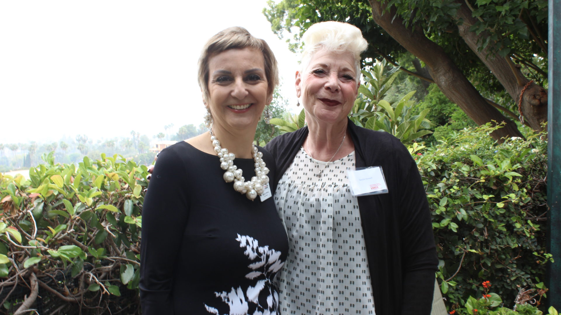 Sandra and Rebecca at the Because of You Donor Event